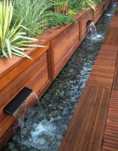 water feature waterfall
