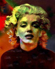 Marilyn Monroe painting art