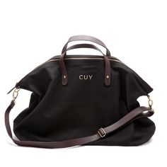 Canvas and Leather Weekender Bag Black / Cuyana