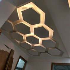 False Ceiling Idea Bedroom Hexagon Gurdit Singh