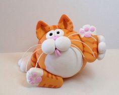 Arcilla del polímero Red Tabby Cat