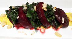Vegan Beetroot & Greens with Yellow Capsicum Coulis | Vegangela