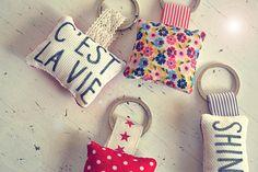 Cushion Key Rings! Shin, Key Rings, Key Fobs