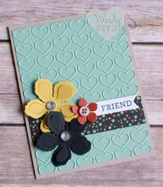 Created this card for Stamp Luvers Club free make and take project. Botanical Garden from Stampin' UP! Wendy Cranford www.luvinstampin.com
