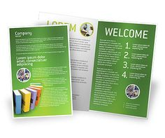 Books Brochure Template for libraries, bookstores, etc. http://www.poweredtemplate.com/brochure-templates/education-training/02844/0/index.html
