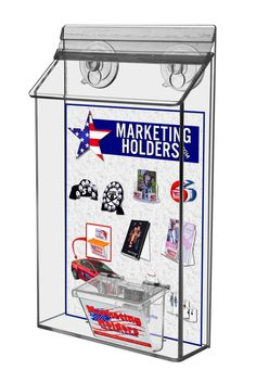 12 green magnetic card caddie vehicle outdoor business card holder 6 x 9 exterior pamphlet holder with suction cups business card holder clear marketingholders reheart Gallery