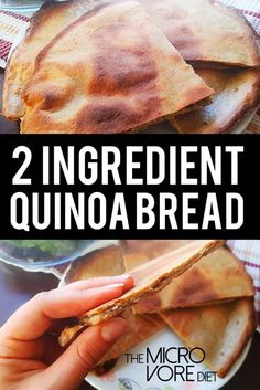 At last, at last, the Two Ingredient Quinoa Bread has been posted! Everytime I p… At last, at last, the Two Ingredient Quinoa Bread has been posted! Everytime I post a meal containing this golden brown seduction it steals aaalll the attentio Vegan Gluten Free, Gluten Free Recipes, Vegan Recipes, Bread Recipes, Alkaline Recipes, Paleo Vegan, Flour Recipes, Dairy Free, Vegan Menu