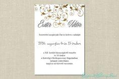 Victoria esküvői meghívó