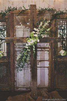 Strawberry Farms Wedding with Orange Owl Photo and Found Vintage Rentals