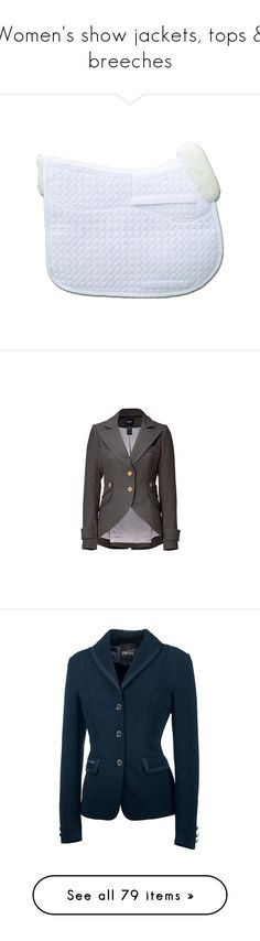 """Women's show jackets, tops & breeches"" by kiyiya ❤ liked on Polyvore featuring saddle pad, outerwear, jackets, purple jacket, snap jacket, collar jacket, zipper collar jacket, shiny jacket, woven jacket and activewear"