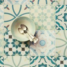 Madeira tiles Fired Earth per tile Bathroom Floor Tiles, Wall And Floor Tiles, Kitchen Tiles, Wall Tiles, Aga Kitchen, Loft Bathroom, Green Kitchen, Master Bathroom, Quarry Tiles