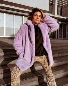 70s Fashion, Fashion Outfits, Womens Fashion, Fashion Trends, Flare Pants, Faux Fur, Street Style, Style Inspiration, Inspired