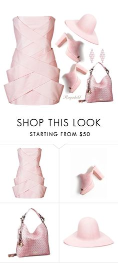 """Balmain Leather Woven Front Mini-Dress"" by ragnh-mjos ❤ liked on Polyvore featuring Balmain, REINHARD PLANK, contest, outfit and Pink"