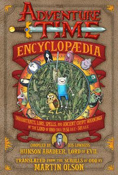 cover illustration for Martin Olson's Adventure Time Encyclopaedia