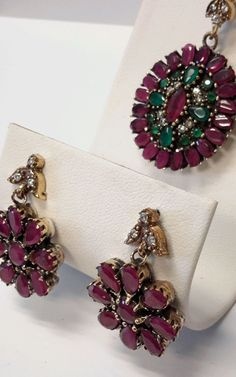Edit description      Immeasurable Turkish Jewelry Set Ruby Topaz 925K Sterling Sliver. See it here and buy it here.