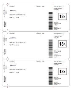 Boarding Pass Invitation / Save-The-Date Template - Basic & other templates