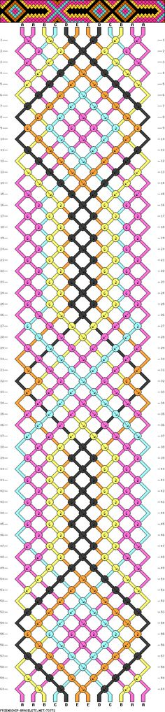 Friendship bracelet pattern. Reminds me of Native American for some reason