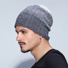 Winter knit hats for men fight color design beanie hat 5a0c6a5dd2b