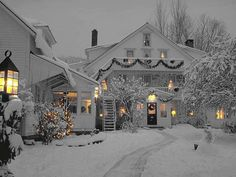 Property Photos Winter Wonderland at Windham Hill Inn,Windham Hill Inn Christmas Scenes, Noel Christmas, Merry Little Christmas, Winter Christmas, Christmas Lights, Christmas Decorations, Country Christmas, Christmas Morning, Christmas Cookies