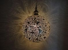 Moroccan Brass Lantern Lamp - traditional - pendant lighting - E Kenoz