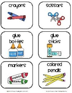 This PDF document contains labels to use with common classroom supplies. Print them on sticker paper or cardstock and use them to label your classr...