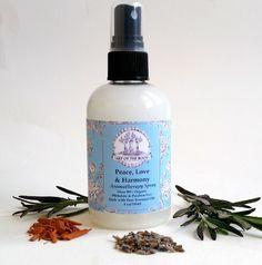 Peace, Love & Harmony Aromatherapy Spray. Over 90% Organic,Vegan & Phthalates and Paraben Free