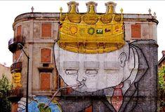 Il graffito su un palazzo di Lisbona, in Portogallo, per cui il quotidianoThe Guardian ha inserito Blu tra i dieci migliori writer del mondo...
