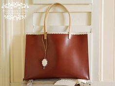Handmade Leather Purse Leather Bag Italian Leather Hide / Coffee - Mocha