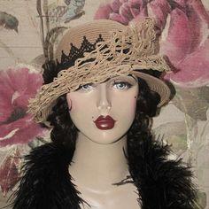 Unique Triple Brim Hat by Graceful Butterfly ~ winner of the 2012 Hatty Award ~