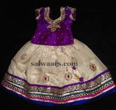 White and Purple Blue Cute Lehenga - Indian Dresses