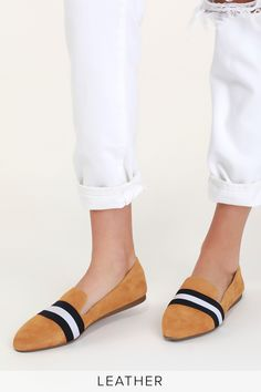 When it comes to casual style, the Steve Madden Nema Mustard Suede Leather Striped Loafers are the best in the biz! Soft suede loafers with trendy stripes. Suede Loafers, Loafer Flats, Espadrilles, Soft Suede, Mustard Yellow, Suede Leather, Me Too Shoes, Heels, Steve Madden