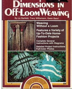 Dimensions in Off Loom Weaving Pattern Book by grammysyarngarden, $7.00
