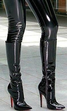 Stiefel Lackleder