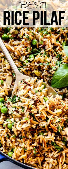 This Rice Pilaf is my favorite side dish EVER! It's a delectable one-pot wonder that that's holiday worthy but everyday easy and it goes with practically everything! via This Rice Pilaf is my favorite side dish EVER! It's a delectable one-pot wo Rice Side Dishes, Dinner Side Dishes, Dinner Sides, Side Dishes Easy, Side Dish Recipes, Food Dishes, Best Dishes, Rice Pilaf With Orzo, Easy Rice Pilaf