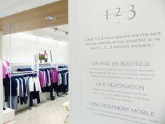 L'enseigne 1.2.3 ré-ouvre sa boutique avenue Ternes à Paris. Toute la palette des services proposés par la marque sont présents: e-réservation, tablette vendeur, encaissement mobile, masque à réalité virtuelle ... Une formule en parfaite cohérence avec la refonte de son site, réalisée en mars 2016.