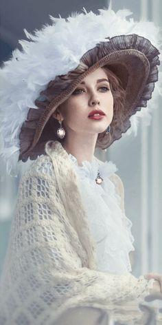 Beautiful Gif, Beautiful Dresses, Beautiful Women, Victorian Women, Victorian Fashion, Photography Women, Portrait Photography, Fedora Hat Women, 1800s Fashion