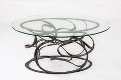 Forged mild steel coffee table with glass top Steel Coffee Table, Glass Top Coffee Table, Power Hammer, Outdoor Tables, Outdoor Decor, Blacksmithing, Cape Town, Sculpture Art, Passion