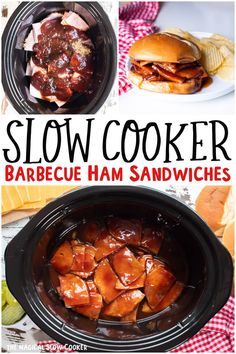 Slow Cooker Bbq, Slow Cooker Recipes, Crockpot Recipes, Ham Recipes, Supper Recipes, Cooking Recipes, Crockpot Dishes, Crock Pot Cooking, The Magical Slow Cooker
