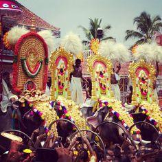 #celebrando el #pooram en #trissur #kerala #india ... #elefante #elephant #fire #hindu