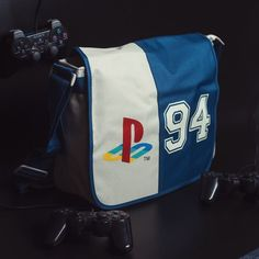 Take it back to the days of Final Fantasy, Rayman, and Spyro with this Playstation Classic 94 Logo messenger bag. Perfect for getting that lovely dose of nostalgia when doing your day-to-day 'adult life' chores, like work, college, uni, school, shopping, playing PS4, whatever. (And yes, it fits a console in it.) Official merchandise