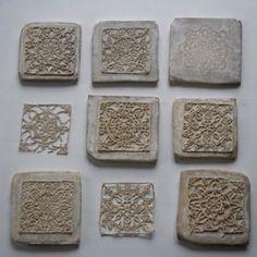 Beautiful lace concrete tiles