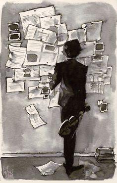 miss—kimberly.t… Sherlock fan art with water-soluble ink Sherlock Bbc, Sherlock Fandom, Fan Art Sherlock, Benedict Cumberbatch Sherlock, Sherlock Quotes, Sherlock Poster, Funny Sherlock, Sherlock Season, Sherlock Moriarty