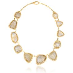 Scott Mikolay one of a kind handcrafted rutilated quartz and diamond collar style necklace. http://www.desiresbymikolay.com/collections/scott-mikolay/products/scott-mikolay-rutiliated-quartz-necklace