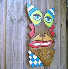 Sea Monkey Original Wood Carving Wall Art Wood by FigJamStudio