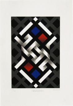 Bring the museum home and transform your world with fine art. Op Art, Barn Quilt Patterns, Illusion Art, Mandala Design, Optical Illusions, Designs To Draw, Geometric Shapes, Painted Rocks, Abstract Art