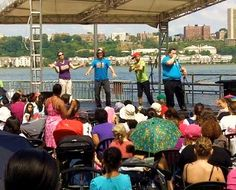 Improv 4 Kids performs outside in NYC at the 79th St Pier