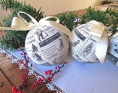 Rustic Ornament , Christmas Ball Ornament , Bauble