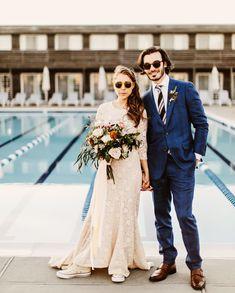 Brooklyn Hamptons Beach Wedding // hipster romantic whimsical