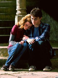 """…Ron and Lavender come bumbling into this dark corner of Hogwarts looking for a place to snog. Hermione shoos them away with magical gust of wind, then weeps harder. Even after ""Cut!"" Watson continues to tear up, and Radcliffe offers comfort with a lingering side hug and whispered praise. ""Bloody, f—-ing brillant, Emma. Just top-notch"". (Entertainment Weekly, 2008)"