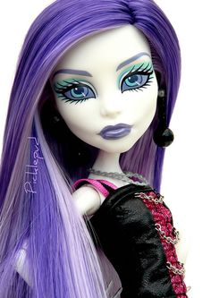 """Monster High Spectra FINALLY they made dolls & characters for us """"alternative"""" girls. Too bad they didn't have THESE 25 years ago.lol"""